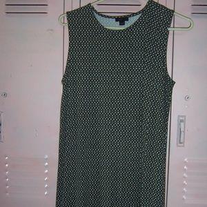 J Jill Olive Mini Dress or shirt W/ High Slit